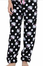 Sanrio Hello Kitty Adult Soft Fleece Pajama Lounge Pants Black XL NEW Retail $30