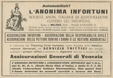 Z1179 Assicurazioni Generali di Venezia - Pubblicità d'epoca - 1933 Old advert