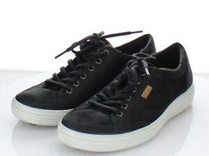 V12  $150 Men's Sz 41M Ecco Soft 7 Tie Nubuck Leather Lace Up Sneaker