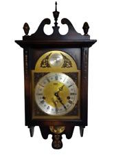 Orologio parete a pendolo Sondor suoneria Westminster-Cassa in legno e ottone.