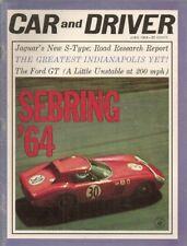 CAR & DRIVER 1964 JUNE - 3.8 S JAG, JAPAN, FORD GT