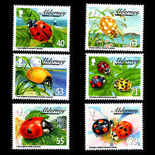 """Alderney 2014 - Fauna """"Ladybirds"""" Insects Fauna - Sc 484/9 MNH"""