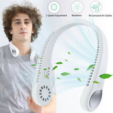USB Portable Hanging Neck Fan Cooling Air Cooler Mini Electric Air Conditioner