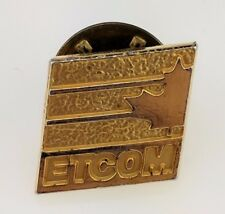 Vintage ETCOM Canada Pin Lapel Engineering Information Technolog telecomm Tech