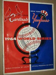 1964 World Series Program Busch Stadium St. Louis Cardinals New York Yankees