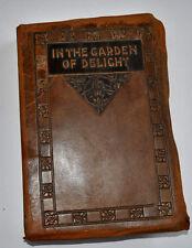 Il giardino di gioia Antico Arts & Craft leatherbound LIBRO RICHARDSON 1912