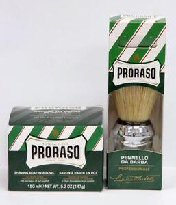 PRORASO Shaving Cream 150ml Tub + Large Shaving Brush DEAL