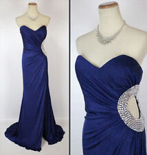 NWT Jovani Navy Long Strapless Evening Prom Formal $400 Cruise Size 8 Dress