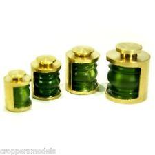 Modello BARCA RACCORDO 1x OTTONE NAVIGAZIONE Lampada 180degrees 8x6mm GREEN LENS 022-06