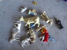 Lot of Vintage Small Farm Animal and People Figures