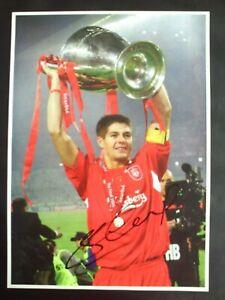 Steven Gerrard Liverpool Genuine Signed A4 Photograph