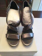 Calvin Klein Women's Val Metallic Grey Heel 8.5m New