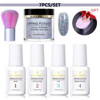 7Pcs/Set BORN PRETTY Dip Liquid Dipping Powder Nail Art Brushes Pro Starter Kits