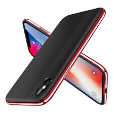 F iPhone X 8 7 Plus Luxury Slim Shockproof Hybrid Thin Kickstand Hard Case Cover for iPhone 7 Red