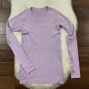 Lululemon Women's Size 6 Lilac Purple Swiftly Tech Long Sleeve Shirt Top