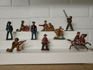 MANOIL BARCLAY ARMY VINTAGE LOT DIMESTORE SOLDIERS LEAD FIGURES WILLIAM FEIX