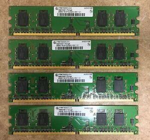 1GB (4x256MB) RAM Infineon HYS64T3200HU-5-A 1Rx16 PC2-3200U-333-11-C1
