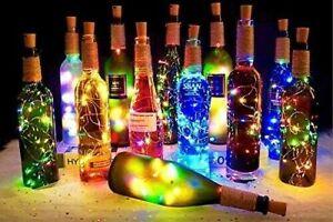 Bottle Lights Fairy String Cork Shaped Wedding Party Christmas Lights 20 LEDS