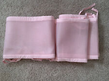 Breathable Crib Bumper Liner Pink Girls Mesh Crib for Standard Baby Crib Infant