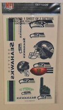 NFL SEATTLE SEAHAWKS TEMPORARY TATTOOS 1 SHEET 7 TATTOOS FAST FREE SHIPPING