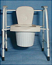 Doll miniature handcrafted Medical port-a-potty potty chair 1/12th scale