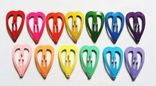 24 pcs Cute Heart baby hair snap clip size 30 mm ( Mix Bright and Pastel color )