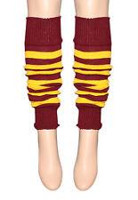Harry Potter estilo granate y amarillo A Rayas Calentadores Para Vestido De Partes