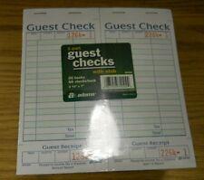 Adams 1-Part Guest Check with Stub 20 books 50 checks/book SA540A Receipt new
