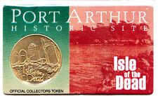 Tasmania Port Arthur Medal Isle of The Dead on Card of Issue Gold Finish