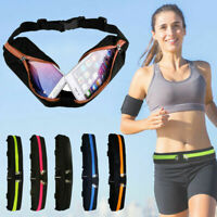 Dual Pocket Running Belt Phone Pouch Waist Bag Sports Travel Fanny Packs Outdoor