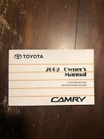 2002 TOYOTA CAMRY OWNERS MANUAL