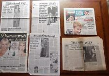 Princess Diana Camilla Wears Her Jewels +1985 Times Newspaper + Dodi apt sold UK