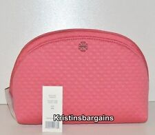 NWT Tory Burch Beach Neoprene Cosmetic Case Make-up Bag Fiesta  Pink MSRP $125