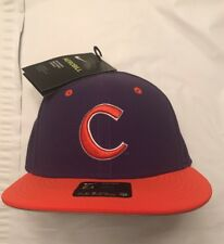 85673ddc277 Men s Nike Aerobill Clemson Tigers True Baseball Fitted Hat Cap Size 7 1 4  NWT