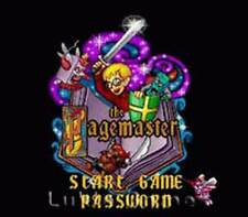 The Pagemaster - SNES Super Nintendo Game