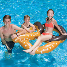 Swimline Chocolate Dipped Pretzel Inflatable Swimming Pool Lounge
