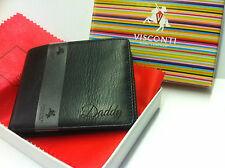 Personalised Unusual Leather Wallet Free Laser engraving and inside plate .