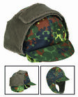 GERMAN MILITARY FLECTARN CAMO WINTER CAP WITH EAR FLAPS COLD WEATHER HAT 58
