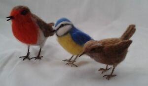 Needle felting kit British Birds British Wool WULYDERMY