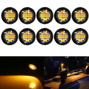 10X 15W Amber Eagle Eye Lamp Car LED Rock Daytime Parking Turn Signal Light