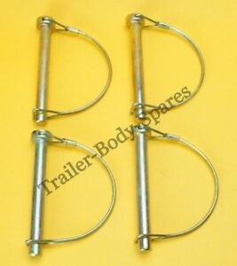 FREE UK Post  4 x 8mm Shaft Locking Retaining Pin - D Clip Lynch Pins