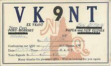 OLD VINTAGE VK9NT NEW BRITAIN PAPUA NEW GUINEA AMATEUR RADIO QSL CARD