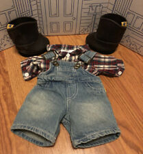 New ListingBuild A Bear Overalls Plaid Shirt And Cowboy Boots Country Farmer Outfit