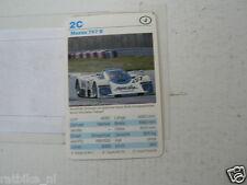 53-RACING CARS 2C MAZDA 767 B   KWARTET KAART,CARD