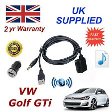 VW Golf GTi Bluetooth Music Module Samsung iPhone LG HTC Aux input Power Adapter