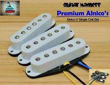 G.M. Premium Alnico's White Strat Stratocaster® Single Coil Set For Fender