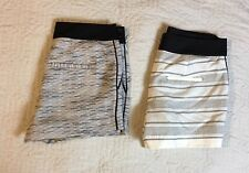 Ann Taylor Loft Shorts Women Size 2, 32 Waist Casual Striped Mini Lot Of 2