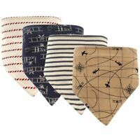Hudson Baby Boy Bandana Bib, 4-Pack, Airplanes