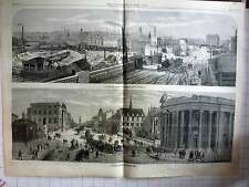 1868 View Of Leeds From Holbeck Junction, Looking Up Park Row