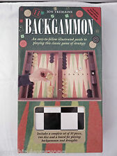 BACKGAMMON - JON TREMAINE BOARD GAMES SET WITH DRAFTS ALSO